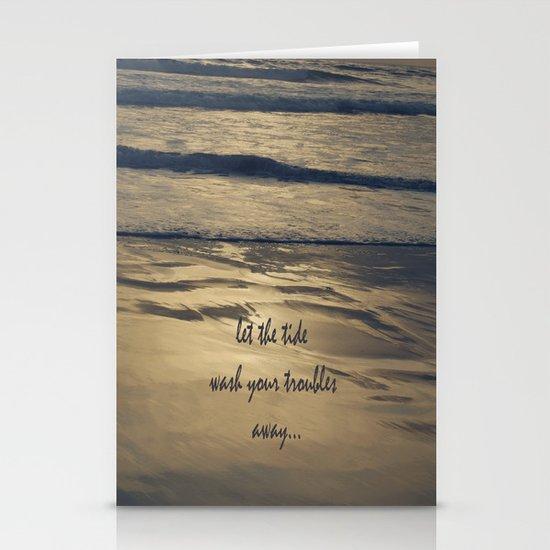 Golden Tide Stationery Cards