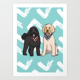 Ramble and Winter Art Print