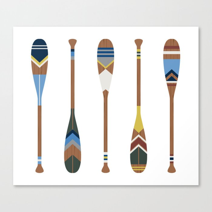 Painted Oars Leinwanddruck