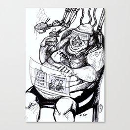 Inktober: Fat Canvas Print