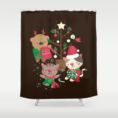 Holiday Crew Shower Curtain