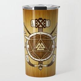 d20 Viking Warrior Travel Mug