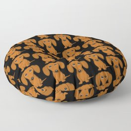 Shorthaired Dachshund Cartoon Dog Floor Pillow