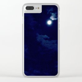The night with a hazy moon Clear iPhone Case