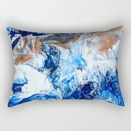 Copper and Blue Rectangular Pillow