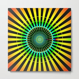 Rainbow Spokes Metal Print