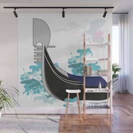The symbol of the city of Venice-gondola Wall Mural