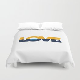 LOVE - People's Flag of Milwaukee Duvet Cover