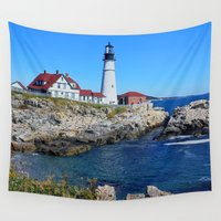 maine Wall Tapestries featuring Maine Icon by Exquisite Photography by Lanis Rossi