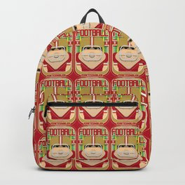American Football Red and Gold - Enzone Puntfumbler - Victor version Backpack