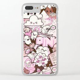 Custom Kawaii Doodle For My Sister Clear iPhone Case