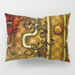 Noble Steampunk design, clocks and gears Pillow Sham
