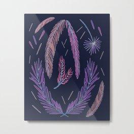 Pine Study in Dark Violet Metal Print