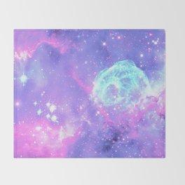 Pastel Galaxy Throw Blanket