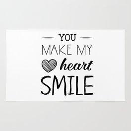 You make my heart smile Rug