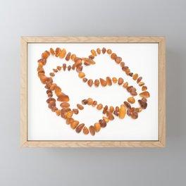 beads with amber Framed Mini Art Print