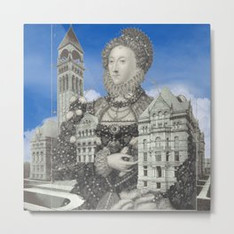 QUEEN ELIZABETH AND THE MANOR HOUSE I Metal Print
