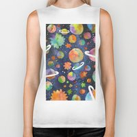 planet Biker Tanks featuring Planet by Michaella Fonseca