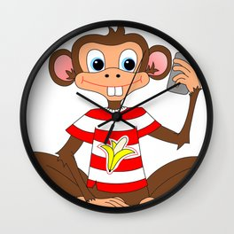 Camera Fone - Monkey Wall Clock