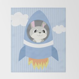 Mobil series rocket bunny Throw Blanket
