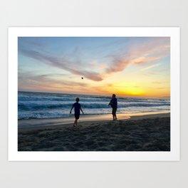 Summer Sunset Boys Art Print