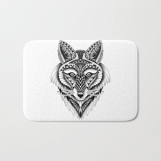 Ornate Foxy Wolf Bath Mat