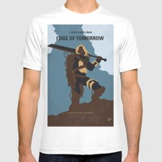 No790 My Edge of Tomorrow minimal movie poster MEDIUM Mens Fitted Tee White