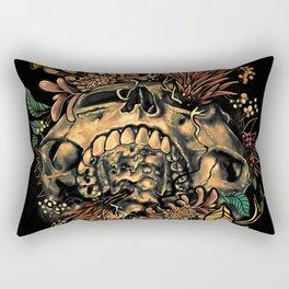 Skull Flora Rectangular Pillow