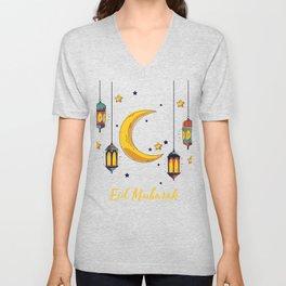 Eid Mubarak design for kids, Ramadan Kareem Banner product Unisex V-Neck
