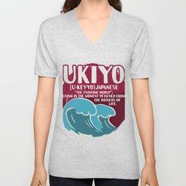 Ukiyo Detached from Bothers of Life Unisex V-Neck