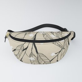 Line Drawing Leaves #3 Fanny Pack