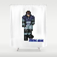 metal gear solid Shower Curtains featuring Metal Gear by Elegant As Phoque