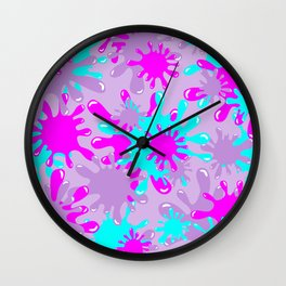 Slime in Lavender, Pink & Blue Wall Clock