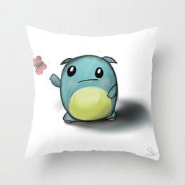 cuteness monster Throw Pillow