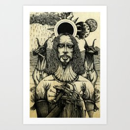 Louder than Love (Line Art) Art Print