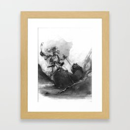 Everen and the Snake Framed Art Print