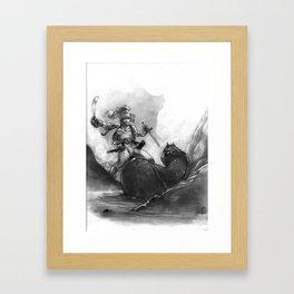 Everen and the Snake Framed Art Print