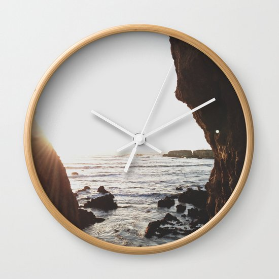 Shell Beach View Wall Clock