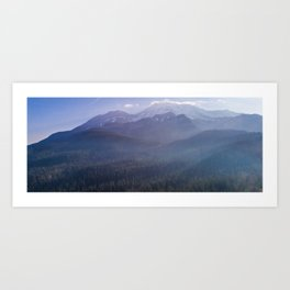 Aerial view of Mount Shasta, California Art Print