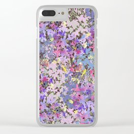 Lavender Meadow Clear iPhone Case