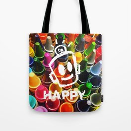 Crayon HAPPY Tote Bag