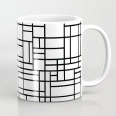 Map Outline Black on White Mug