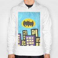 bat Hoodies featuring Bat by Marialaura