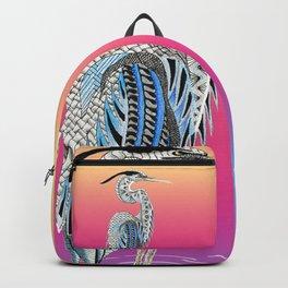 Great Blue Heron Totem Backpack