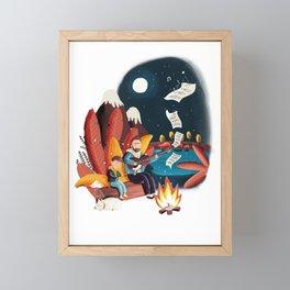 dances with Campfire Framed Mini Art Print