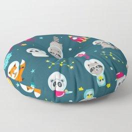cute space animals Floor Pillow