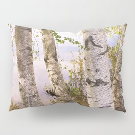 Birch by the Lake Pillow Sham