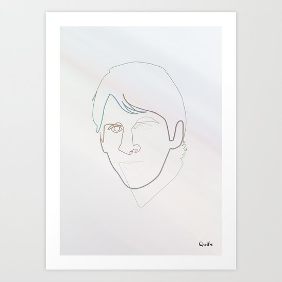 One line Leo Messi Art Print