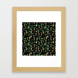 Watercolor cacti Framed Art Print