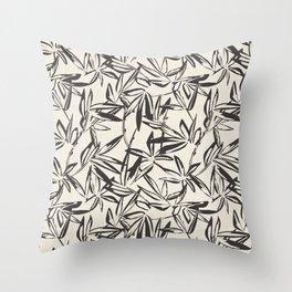 JUNGLIA CHARCOAL Throw Pillow